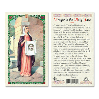 Prayer to The Holy Face-St. Veronica Laminate Holy Card