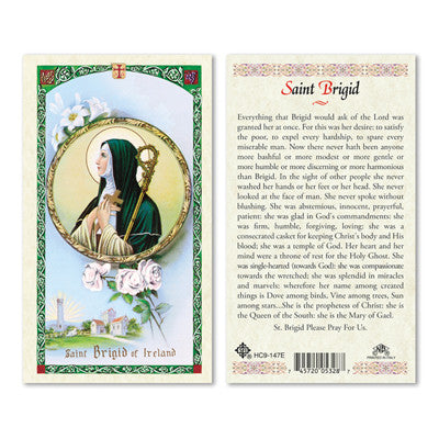 St. Brigid Laminate Holy Card