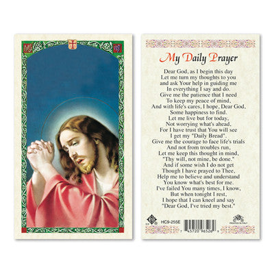 My Daily Prayer Laminate Holy Card