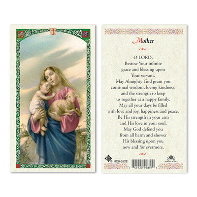 Mother Prayer Laminate Holy Card