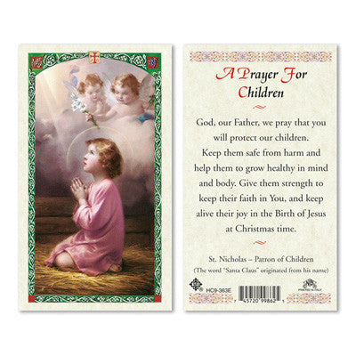 A Prayer for Children Laminate Holy Card