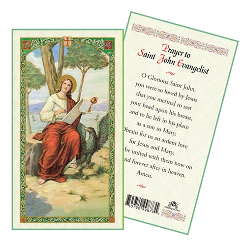 St. John the Evangelist Laminate Holy Card