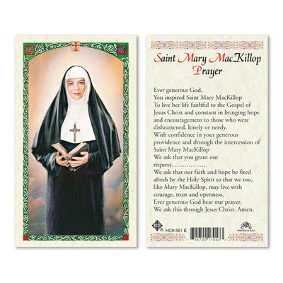 St. Mary MacKillop Laminate Holy Card
