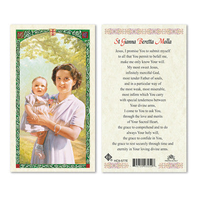St. Gianna Beretta Molla Laminate Holy Card