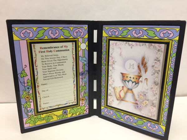 Stained Glass First Communion Chalice Plaque