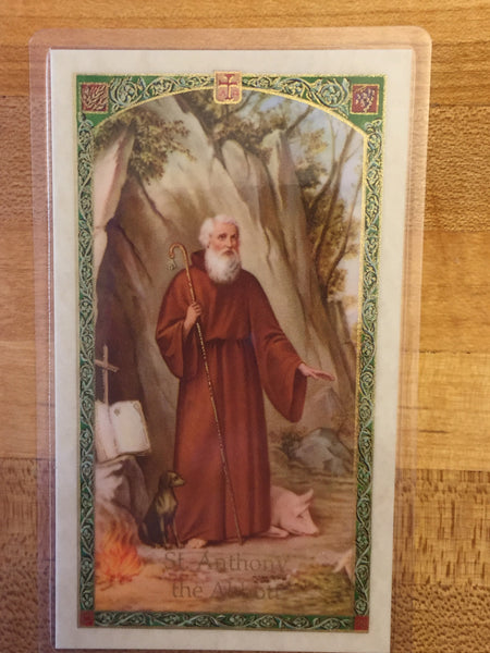 St. Anthony the Abbott Holy Card