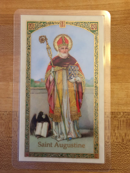 St. Augustine Holy Card
