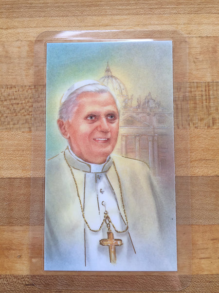 Pope Benedict XVI Holy Card