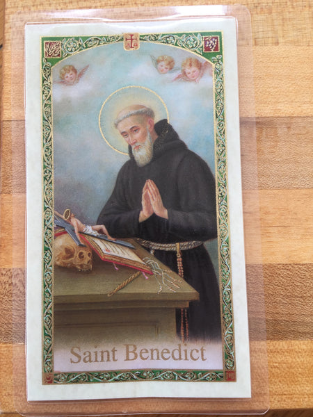 St. Benedict Laminate Holy Card