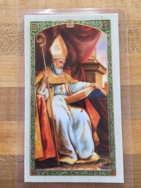 St. Isidore Patron Saint of the Internet Laminate Holy Card