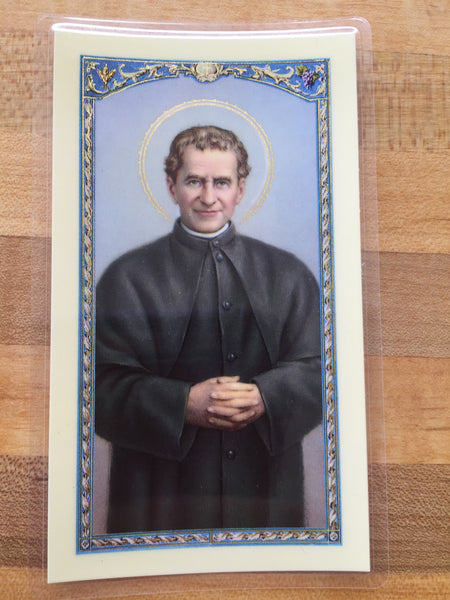 St. John Bosco Laminate Holy Card