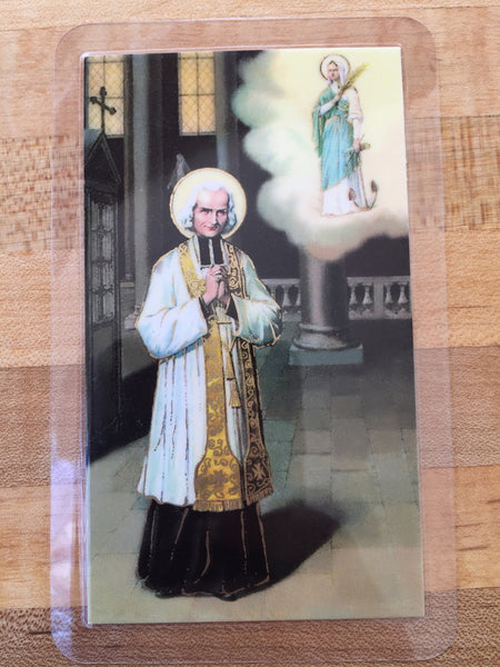 St. John Vianney Laminate Holy Card