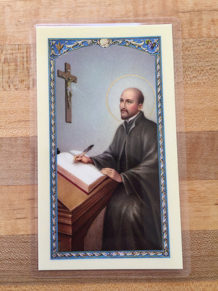 St. Ignatius Loyola Laminate Holy Card