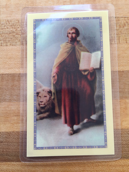 St. Mark the Evangelist Laminate Holy Card