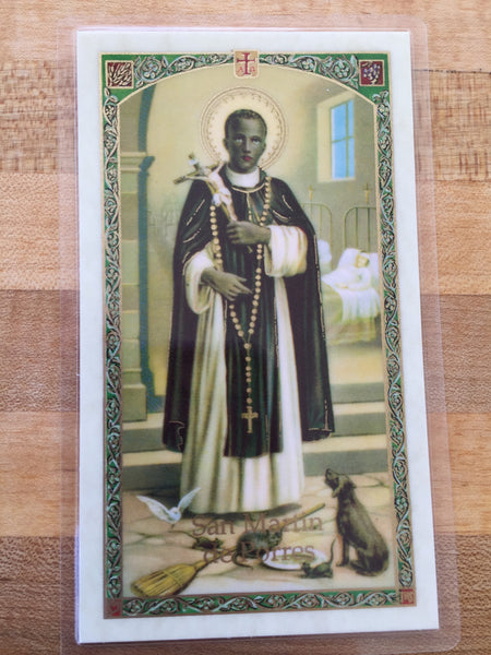 St. Martin de Porres Laminate Holy Card