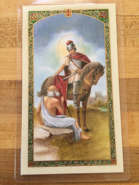 St. Martin de Tours Laminate Holy Card