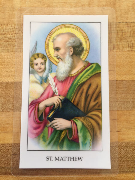 St. Matthew Laminate Holy Card