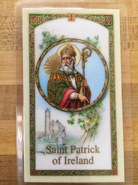 St. Patrick's Breastplate Laminate Holy Card