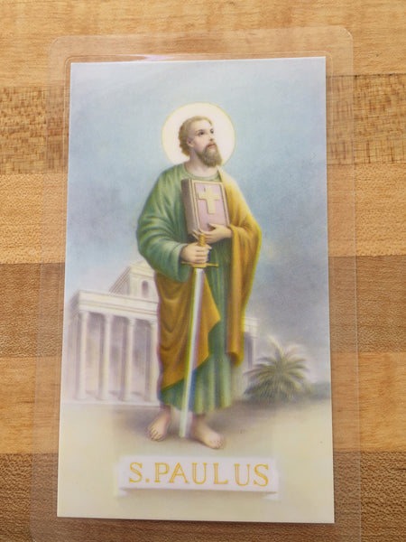 St. Paul Prayer for Patience Laminate Holy Card