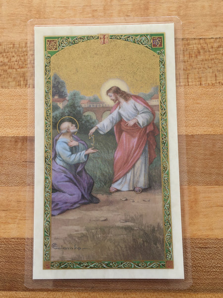 St. Peter the Apostle Laminate Holy Card