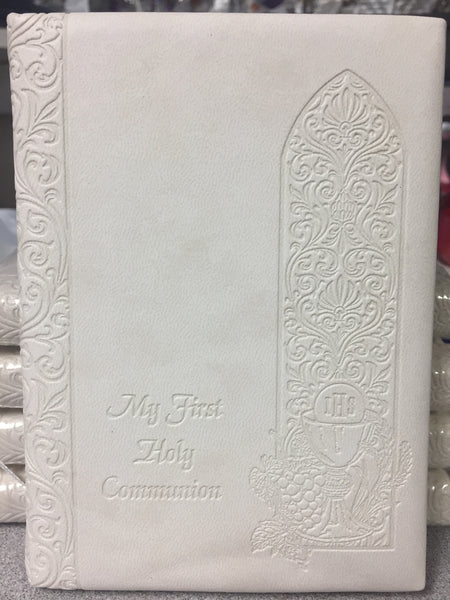 First Communion Mass Book Off White Padded