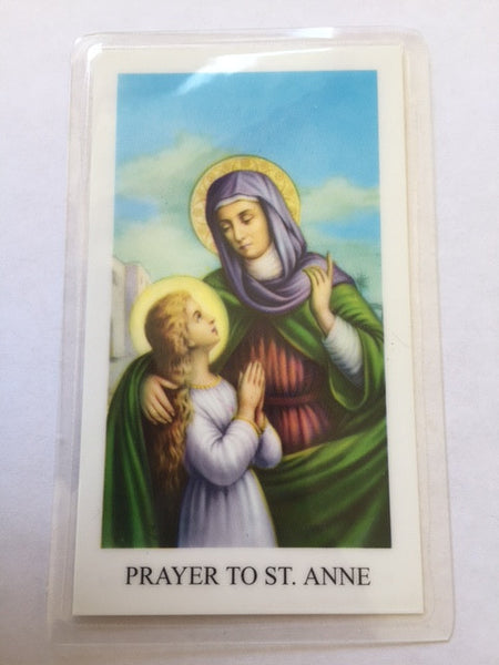 St. Anne Laminate Holy Card
