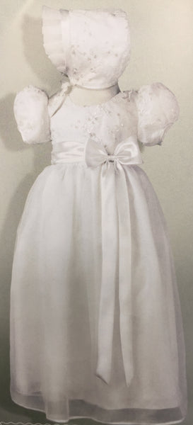 0-3 Month Baptism Gown Girl DB6360