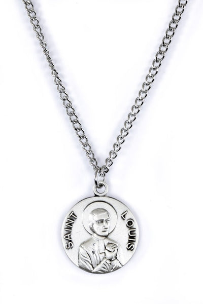 St. Louis de Montfort Pewter Necklace with Holy Card