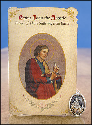 St. John Apostle Burns Healing Medal Set