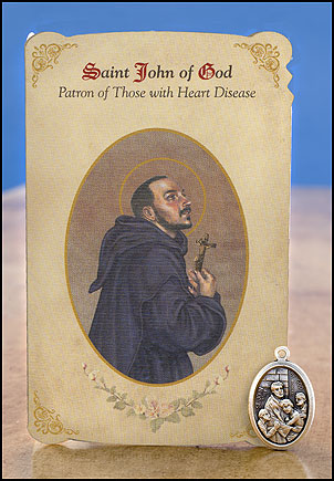 St. John of God Heart Healing Medal Set