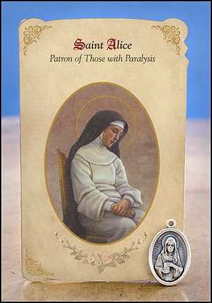 St. Alice Patron of Those with Paralysis Healing Medal Set