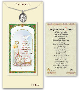 Pewter Confirmation Neckalce with Confirmation Prayer Card