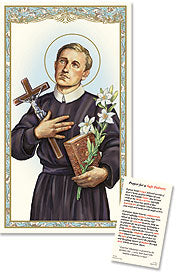 St. Gerard Prayer for a Safe Delivery Holy Card Laminate