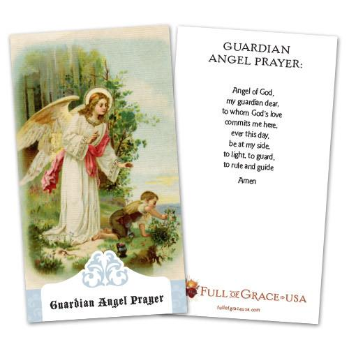 Guardian Angel Holy Cards