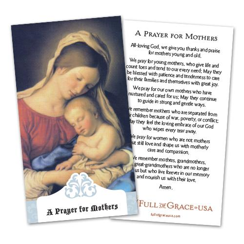 A Prayer for Mothers Holy Card