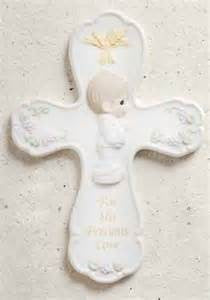 "8""H Precious Moments First Communion Wall Cross Boy"