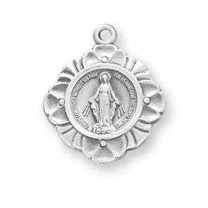 "Sterling Silver 3/4"" Miraculous Medal"