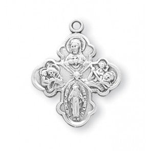 Sterling Silver 4-Way Medal S141218