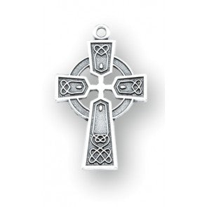 Sterling Silver Irish Celtic Cross Pendant
