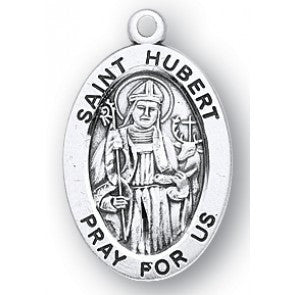 St. Hubert Sterling Silver Medal Patron Saint of Hunters