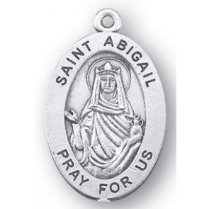 Saint Abigail Oval Sterling Silver Medal