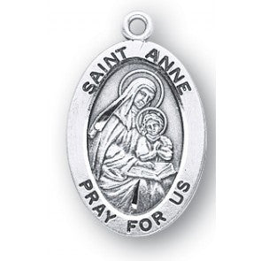 Saint Anne Oval Sterling Silver Medal