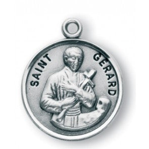 Saint Gerard Round Sterling Silver Medal