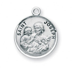 Saint Joseph Round Sterling Silver Medal
