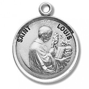 Saint Louis Round Sterling Silver Medal