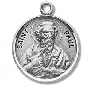 "Saint Paul 7/8"" Round Sterling Silver Medal"