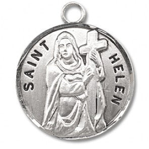 "Saint Helen 7/8"" Round Sterling Silver Medal"
