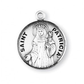 Saint Patricia Round Sterling Silver Medal
