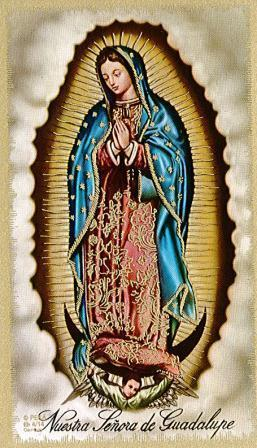 Our Lady of Guadalupe Laminate Holy Card