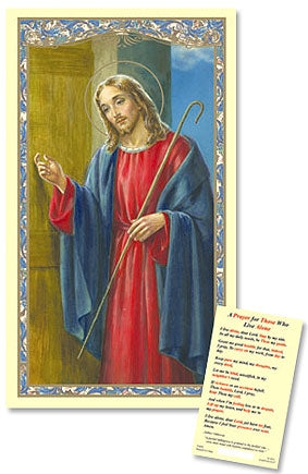 A Prayer for Those Who Live Alone Holy Card Laminate